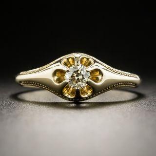 Victorian .19 Carat Diamond Solitaire Ring - 1