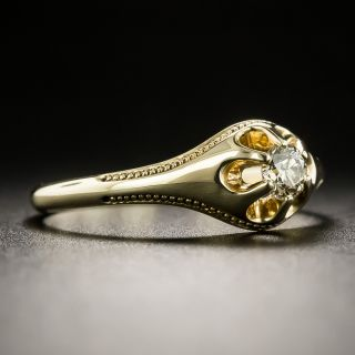 Victorian .19 Carat Diamond Solitaire Ring