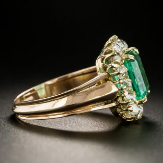 Victorian 2.35 Carat Emerald and Diamond Ring