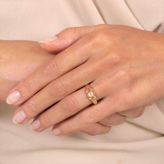 Victorian .25 Carat Diamond Solitaire Ring