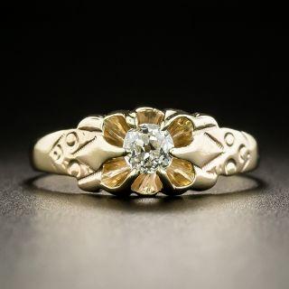 Victorian .25 Carat Diamond Solitaire Ring - 2