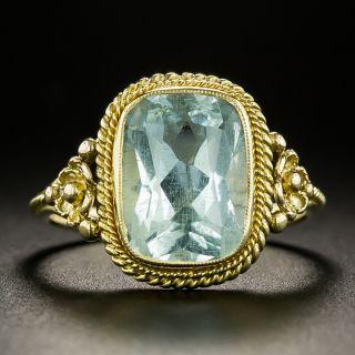Victorian 3.30 Carat Aquamarine Ring - 2