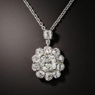 Victorian Diamond Pendant 3.39 Carats Total Weight - 1