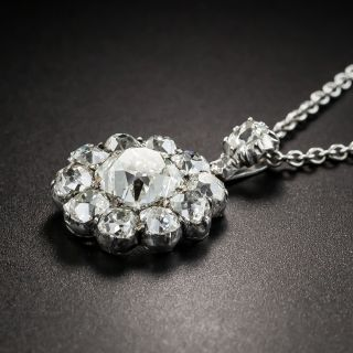 Victorian 3.39 Carat Diamond Pendant