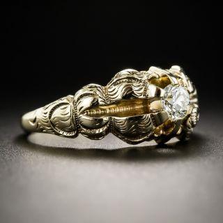Victorian .33 Carat Diamond Solitaire Engagement Ring