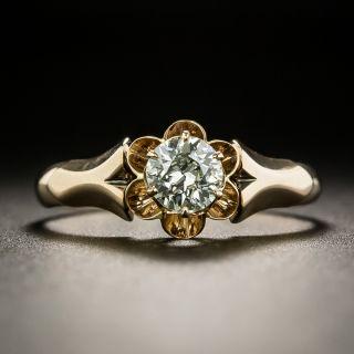 Victorian .38 Carat Diamond Solitaire Engagement Ring - 2