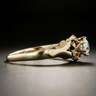 Victorian .38 Carat Diamond Solitaire Engagement Ring