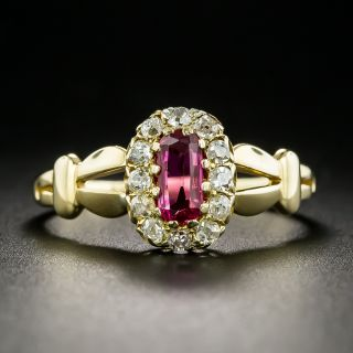 Victorian .45 Carat Ruby and Diamond Ring - 2