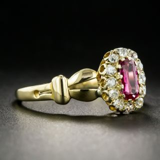 Victorian .45 Carat Ruby and Diamond Ring