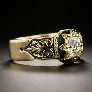 Victorian .55 Carat Diamond Enamel Ring