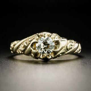 Victorian .65 Carat Diamond Solitaire by Larter - 2
