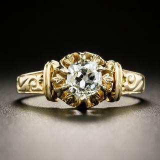 Victorian .75 Carat Diamond Solitaire Engagement Ring - 2