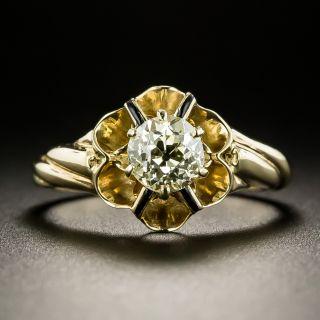 Victorian .81 Carat Diamond Solitaire Engagement Ring - 3