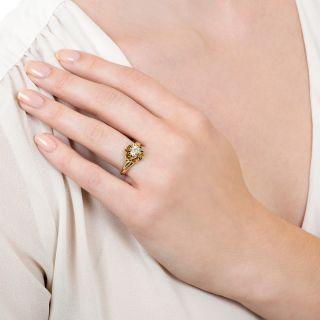 Victorian .81 Carat Diamond Solitaire Engagement Ring