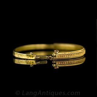 Victorian 9 Karat Bangle Bracelet