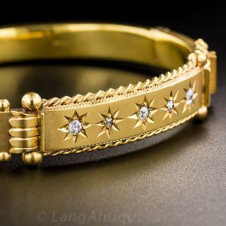 Victorian 9K Diamond Bangle