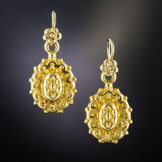 Victorian 9K Drop Earrings - 2