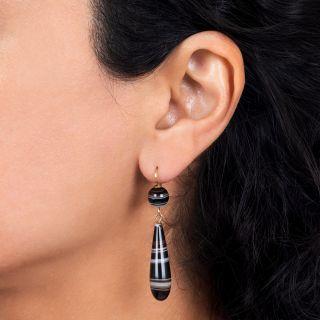 Victorian Agate Drop Earrings