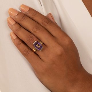 Victorian Amethyst and Seed Pearl Ring