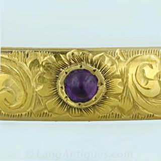 Victorian Amethyst Bangle Bracelet