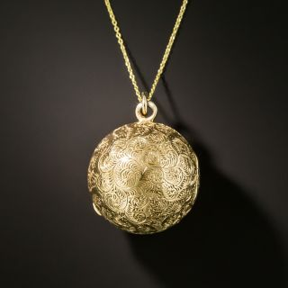 Victorian Ball Pendant Locket