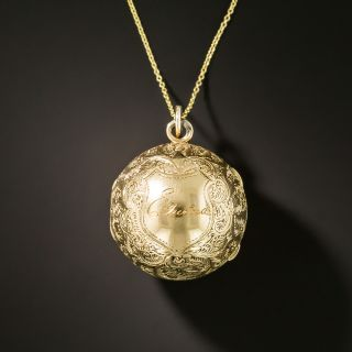 Victorian Ball Pendant Locket - 3