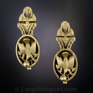 Victorian Bird and Branch Earrings