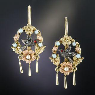 Victorian Bird Earrings - 2