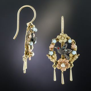 Victorian Bird Earrings