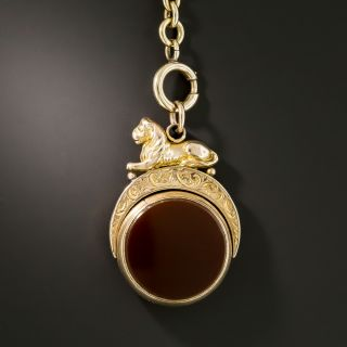 Victorian Bloodstone and Carnelian Fob