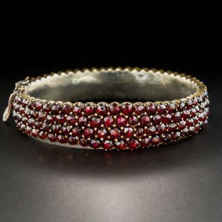 Victorian Bohemian Garnet Bangle Bracelet - 2