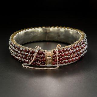 Victorian Bohemian Garnet Bangle Bracelet