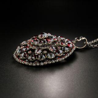 Victorian Bohemian Garnet Cluster Pendant
