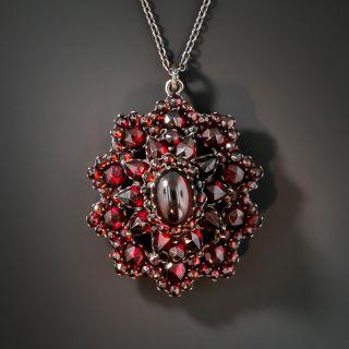 Victorian Bohemian Garnet Cluster Necklace - 2