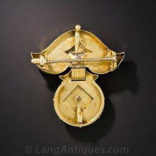 Victorian Etruscan  Revival Brooch