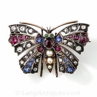 Victorian Butterfly Brooch - 2