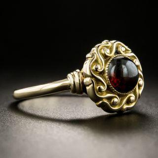Victorian Cabochon Garnet Ring