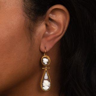 Victorian Cameo Dangle Earrings