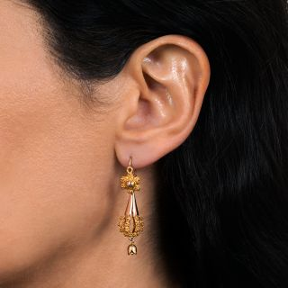 Victorian Cannetille Day/Night Earrings