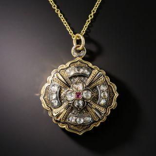 Victorian Diamond and Ruby Locket - 2