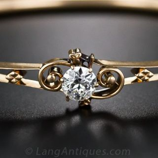 Victorian Diamond Bangle Bracelet