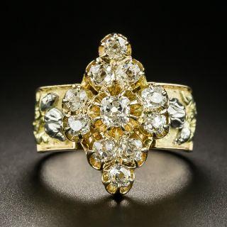 Victorian Diamond Cluster Dinner Ring - c. 1877 - 2