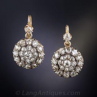 Victorian Diamond Cluster Earrings - 1