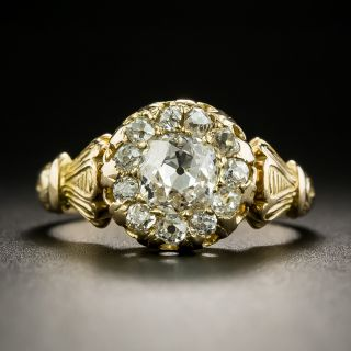 Victorian Diamond Cluster Engagement Ring - 2
