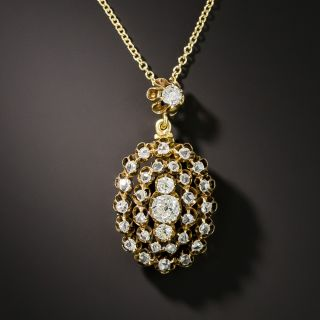 Victorian Diamond Cluster Pendant - 2