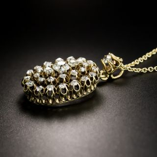 Victorian Diamond Cluster Pendant