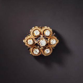Victorian Diamond Cluster Pin - 1