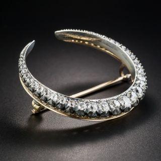 Victorian Diamond Crescent Pin - 1
