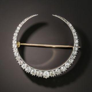 Victorian Diamond Crescent Pin