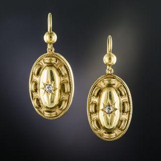 Victorian Diamond Drop Earrings - 2
